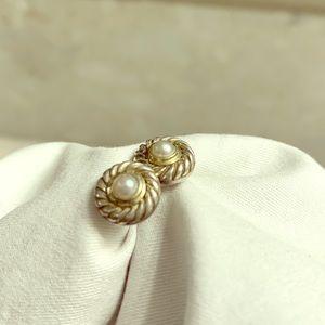 David Yurman Pearl Stud Earrings